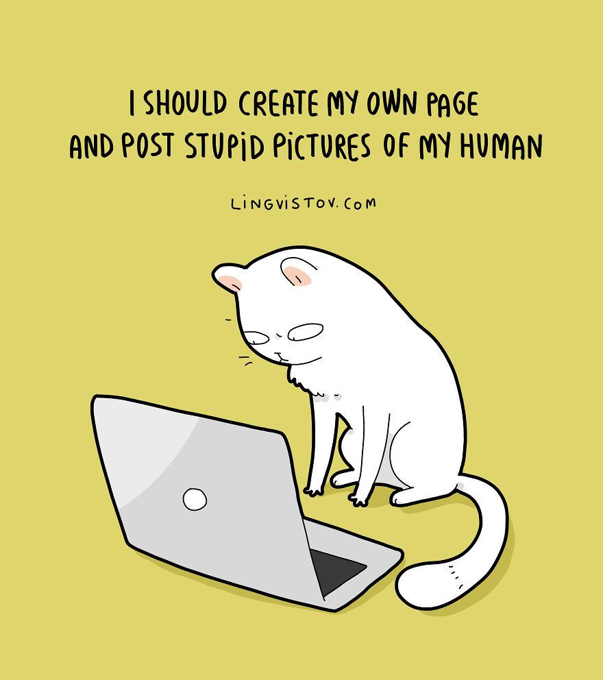 15 ilustraciones que muestran lo hermoso que es vivir con un gatito
