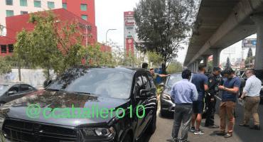 Bruno Valdez y Cecilio Domínguez sufren accidente en Periférico
