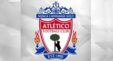 WTF?? Atlético de Madrid fusiona su logo con el del Liverpool