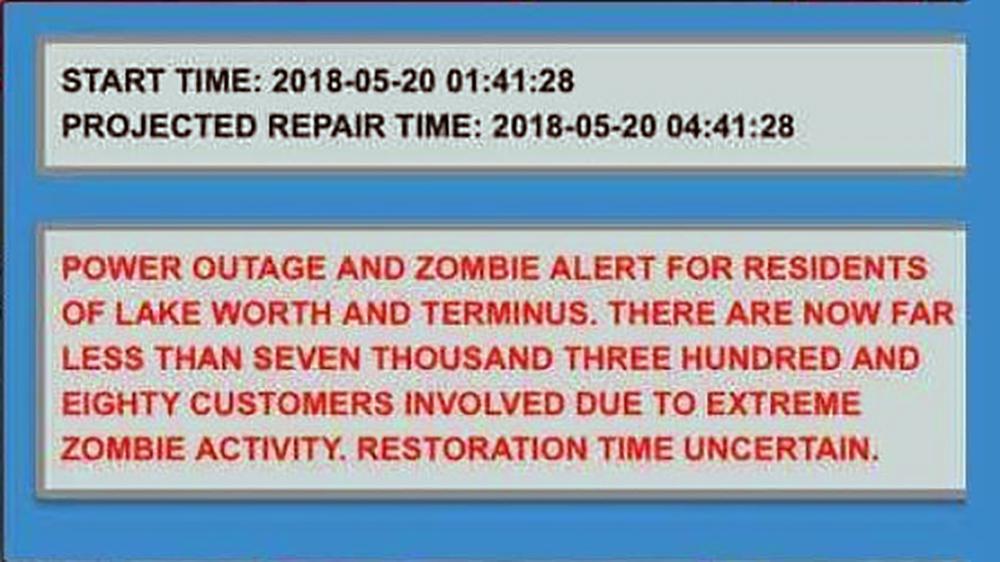 Alerta Zombie en Lake Worth
