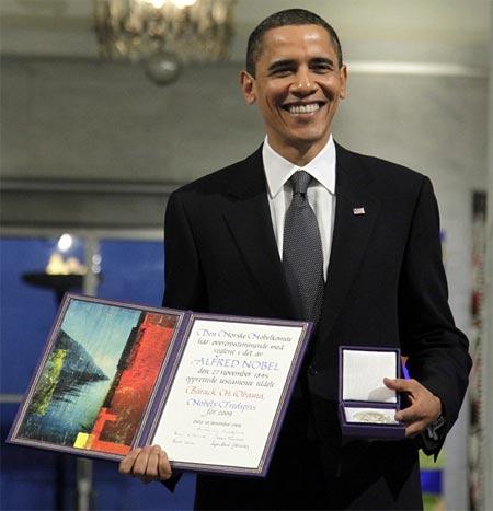 Barak Obama premio nobel de la paz