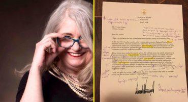 ¡PUM! Maestra le corrige una carta a Trump y lo publica en Facebook