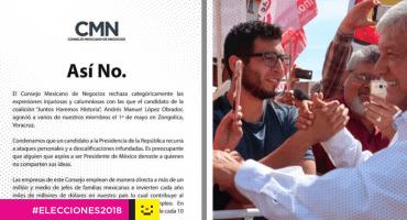 #AsíNo Con un desplegado en prensa nacional, CMN responde a AMLO