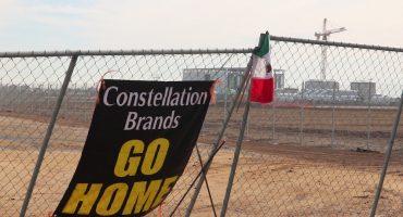 Constellation Brands protestas Baja California