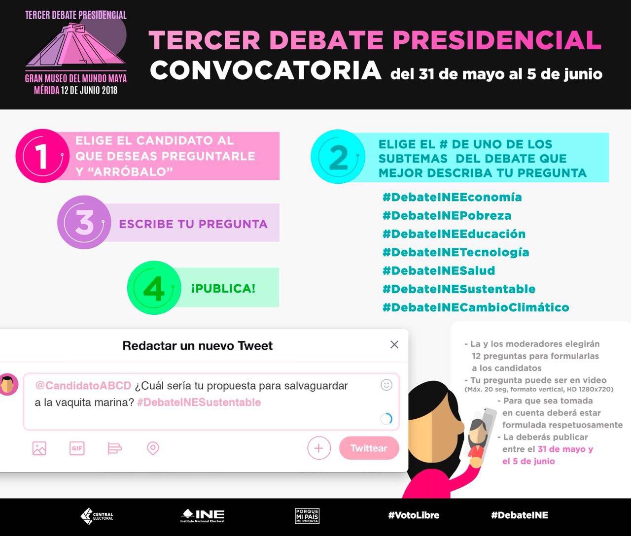 Ya está la convocatoria para participar en el Tercer #DebateINE