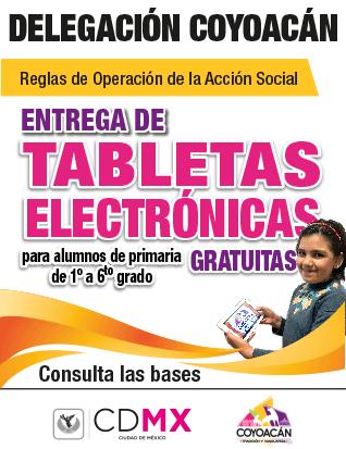 Entrega de tabletas electrónicas delegación Coyoacán estudiantes elecciones 2018