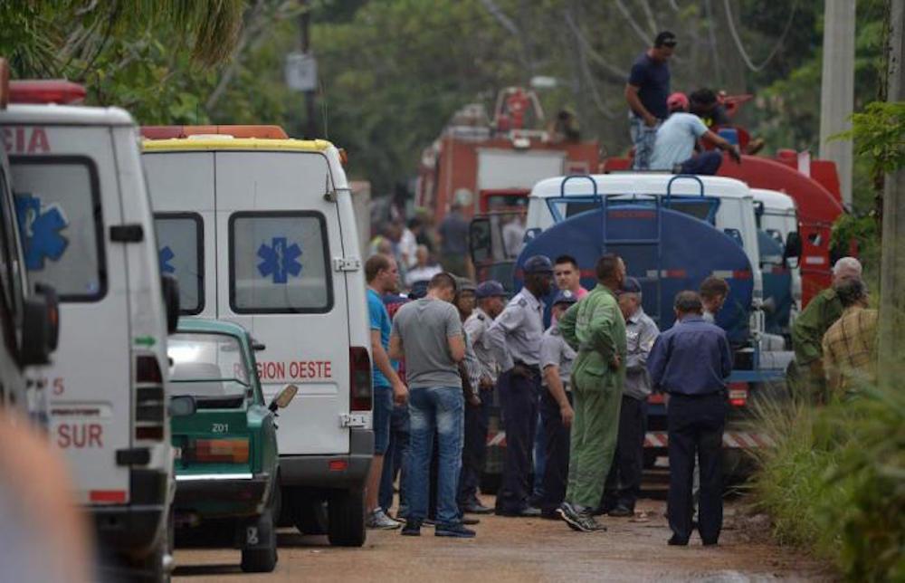 Equipo de rescate accidente avión La Habana, Cuba.