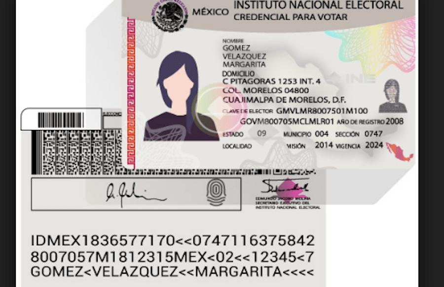 INE credencial de elector