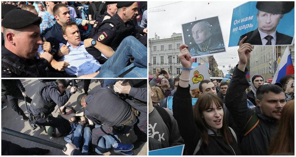 Manifestaciones contra Putin Rusia 2018