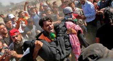 Manifestantes son reprimidos en la franja de Gaza