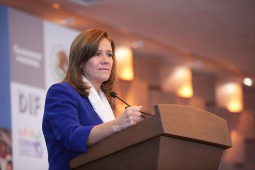 Margarita Zavala presidenta del DIF