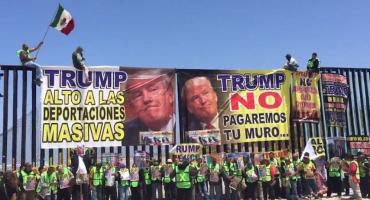 'Le saludan a la suya': organizan #MegaMentada a Trump en frontera Mx-EU