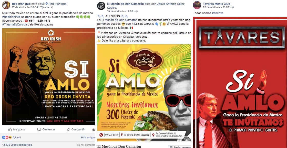 Promociones si AMLO gana