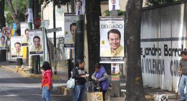 Delegación Miguel Hidalgo elimina propaganda electoral del mobiliario urbano