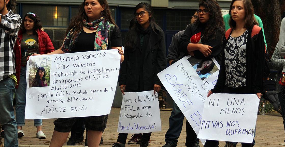 Protesta desaparición Mariela Vanessa