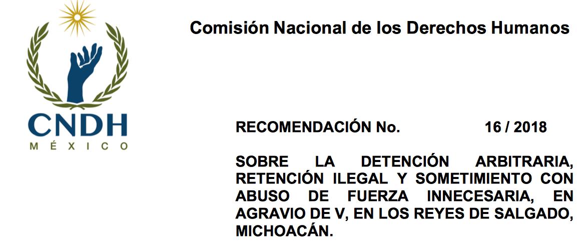 Recomendación CNDH