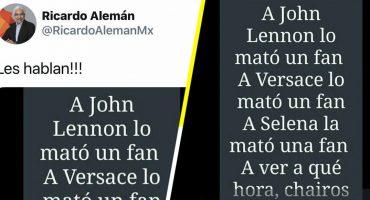 #NoAlPeriodismoSicario: El tuit de Ricardo Alemán que provocó una reacción en contra de incitar a la violencia