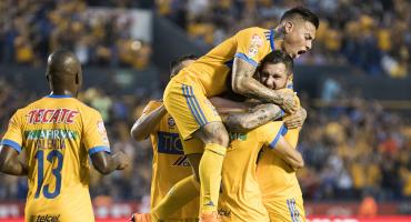 ¡Rugieron en el Volcán! Tigres saca una cómoda ventaja frente a Santos
