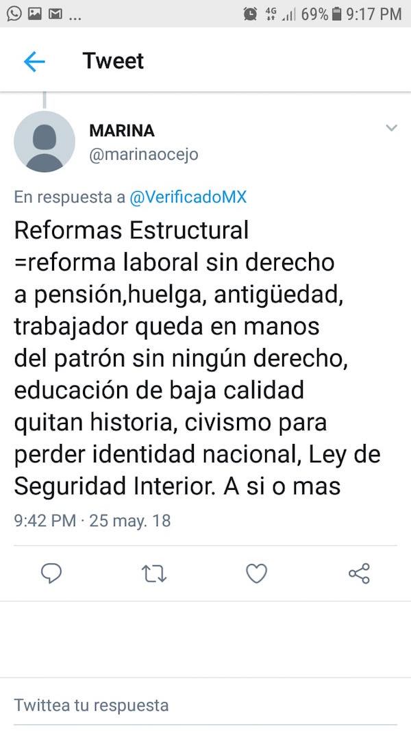 Tuit reforma laboral antigüedad