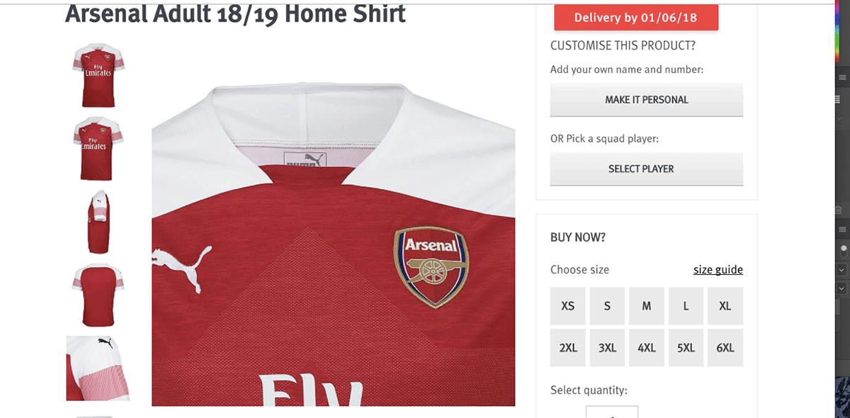 Arsenal presentó su nuevo uniforme