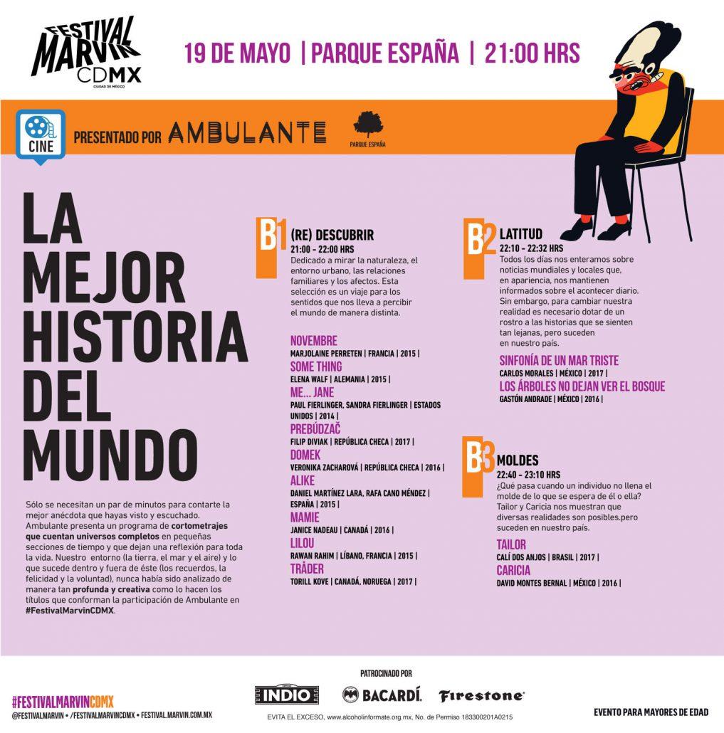 Música y cine: 6 cortometrajes de Ambulante para ver durante el Festival Marvin 2018