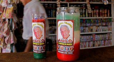 ¿Y a San Antonio de cabeza? Ya llegaron las veladoras para que AMLO gane las elecciones de 2018 🤦🏻♂️