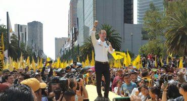 Ricardo Anaya, el primer panista en presidir una ceremonia por aniversario del PRD
