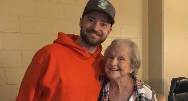 Una ancianita de 88 años que es super fan de Justin Timberlake por fin pudo conocerlo en persona
