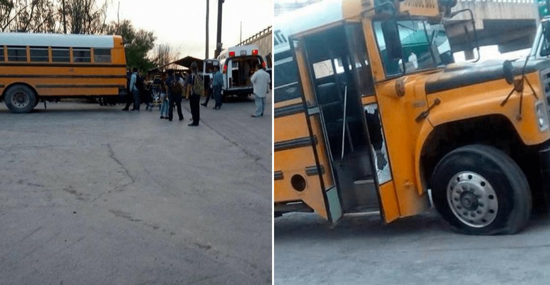 Cuatro bloqueos, persecuciones a balazos y un camión de obreros baleado en Tamaulipas.