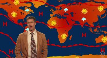 ¿Viejo, sabio y británico? Brad Pitt regresa a la TV como hombre del clima