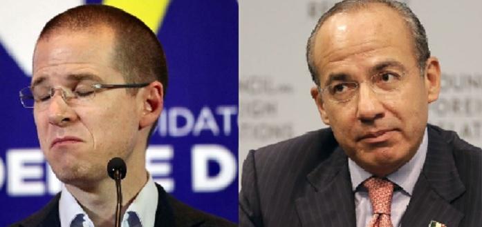 Ricardo Anaya y Felipe Calderón
