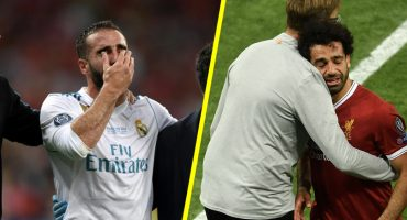 Mohamed Salah y Carvajal dejan lesionados la final de la Champions League entre lágrimas