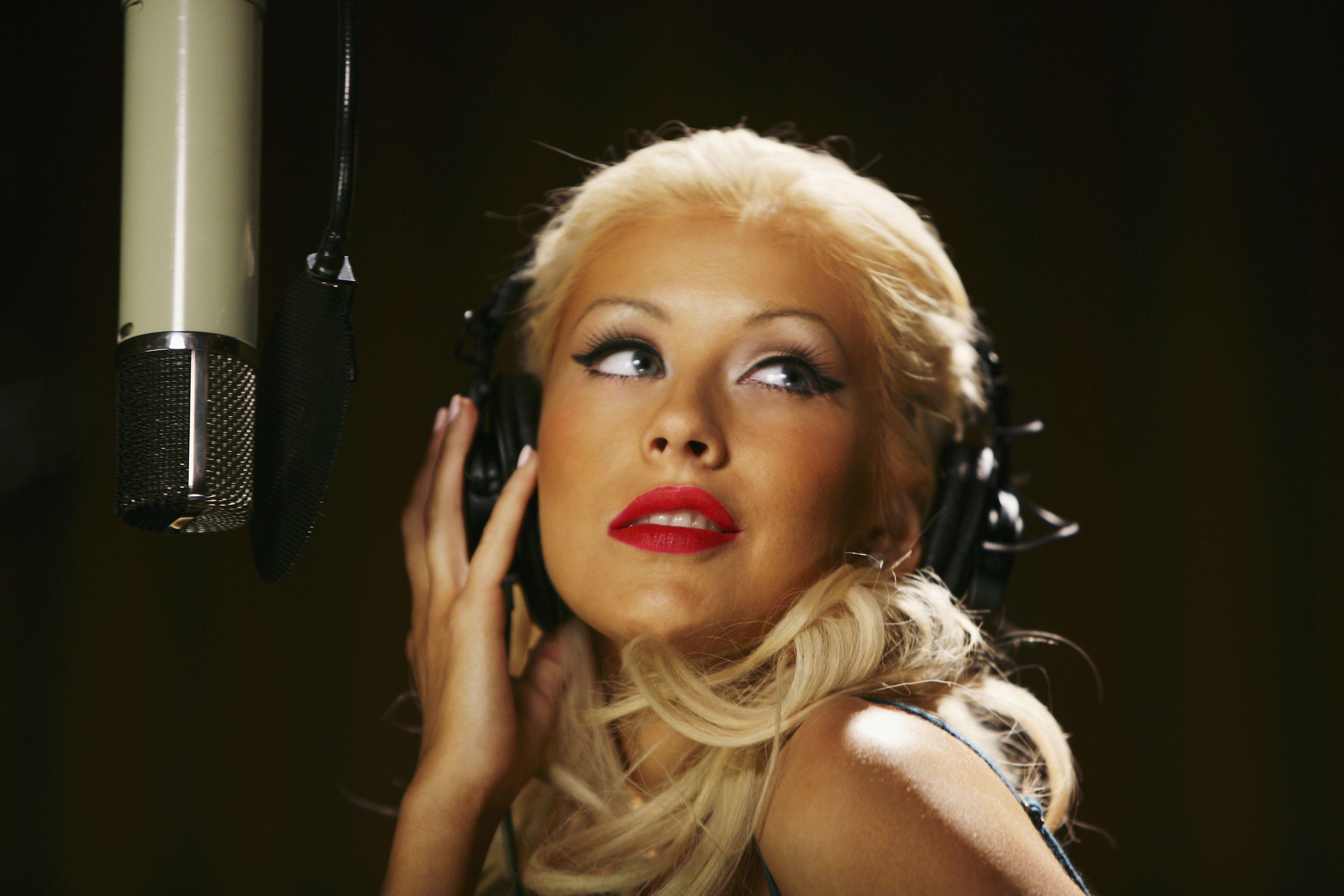 Christina Aguilera para un comercial