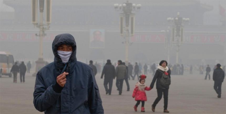 contaminación del aire en Shangai