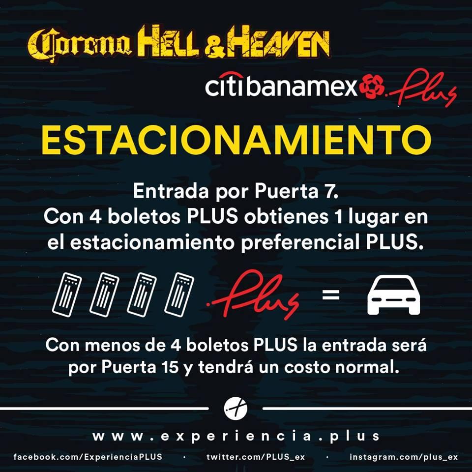Estacionamiento PLUS de Hell & Heaven
