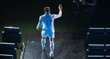 Gareth Baje en el festejo por ganar la Champions League