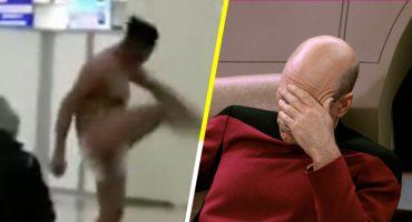 Un mexicano se desnudó y bailó en el aeropuerto de Moscú... y eso que todavía no empieza el Mundial