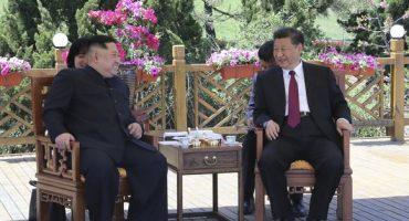 Sí habrá desnuclearización, promete Kim Jong-un en reunión con presidente de China