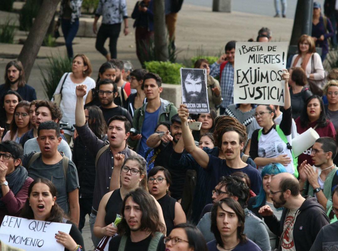 marcha estudiantes de Jalisco