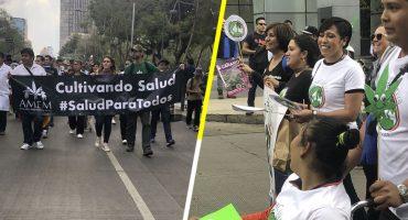 Marchan por la regularización de la marihuana en la Ciudad de México