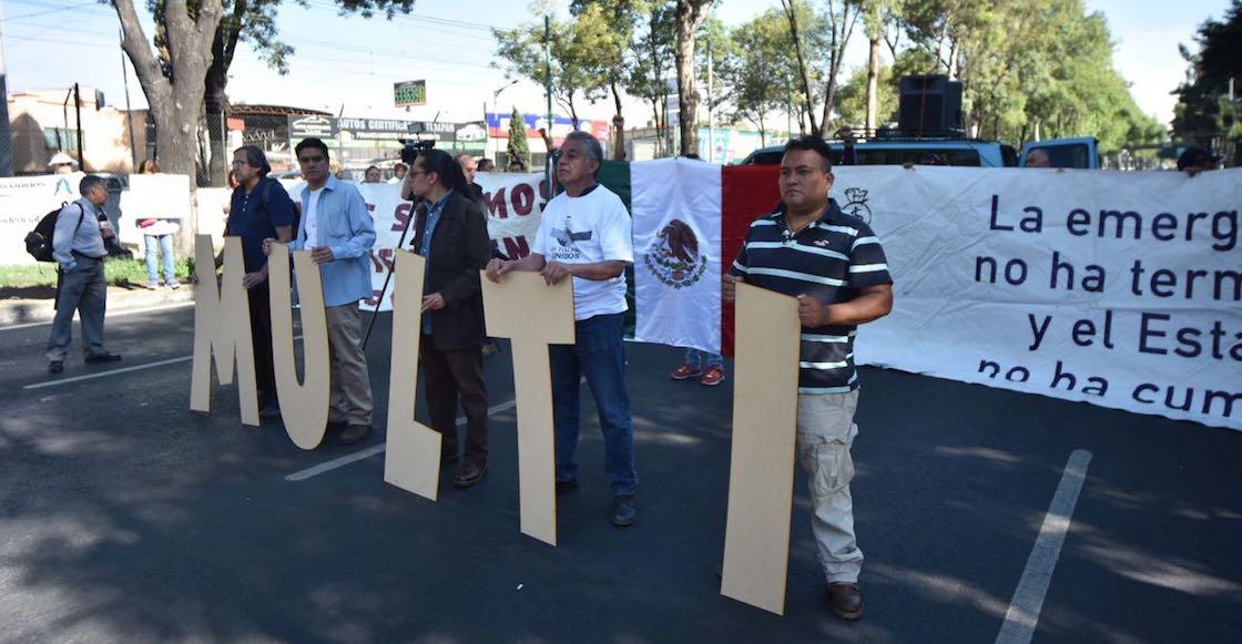 Damnificados 19S cierran Calzada de Tlalpan