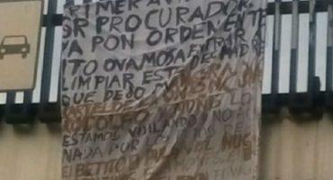 Colocan narcomanta en delegación Miguel Hidalgo, Amieva admite que bandas se disputan sur de CDMX