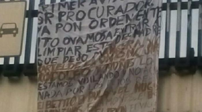 Narcomanta en Delegación Miguel Hidalgo