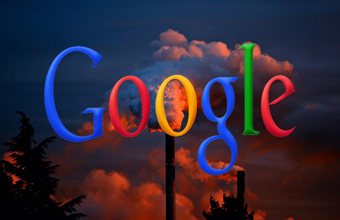 Logo Google con humo