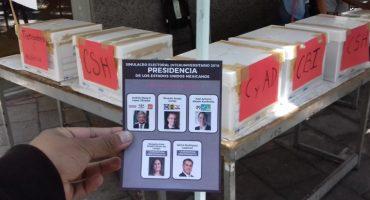 Con 70% de los votos, gana AMLO en simulacro electoral universitario