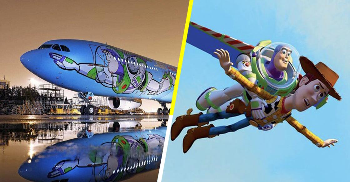 Lanzan avión con temática de Toy Story