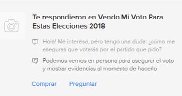 Usuarios de internet venden su voto a cambio de dinero