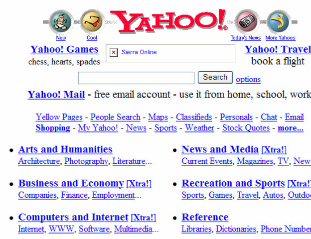 Yahoo hace añgunos años