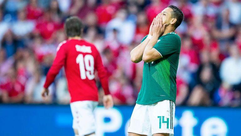 México no puede marcar ante dinamarca