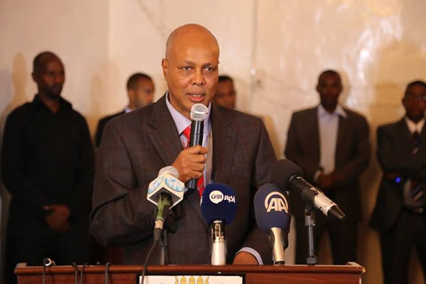 Presidente destituido de Somalia